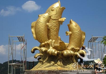 南康鲤鱼雕塑