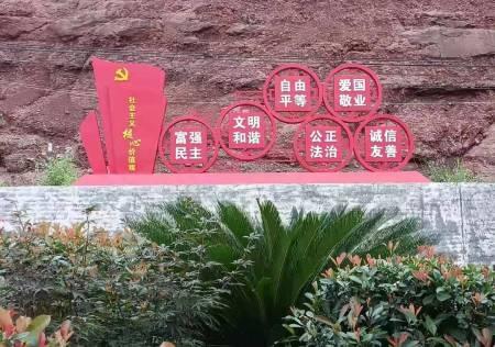 赣县高新区文明城标牌